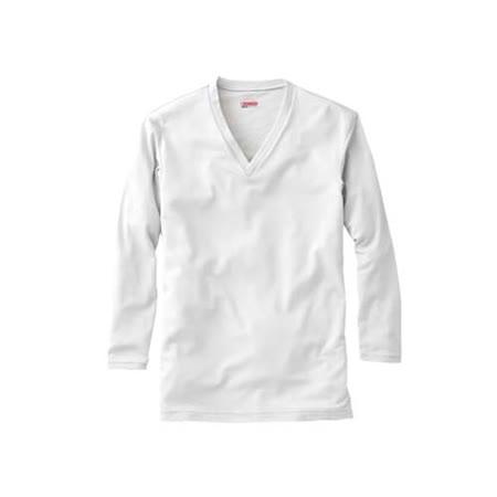 (男) MIZUNO BREATH THERMO V領長袖T恤發熱衣-保暖 消臭  淺灰