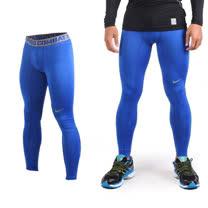 (男) NIKE 緊身長褲-彈力長褲 慢跑 路跑 三鐵 緊身褲 藍灰