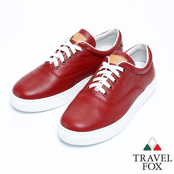 ^(女^)Travel Fox 健步柔軟皮革舒適鞋915811^(紅~304^)