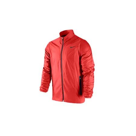 (男) NIKE GOLF 防風運動外套- 高爾夫球 立領 橘紅黑