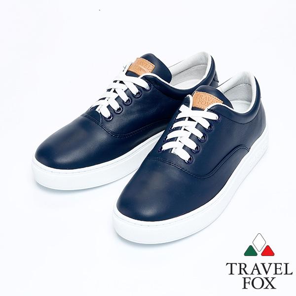^(女^)Travel Fox 健步柔軟皮革舒適鞋915811^(藍~305^)