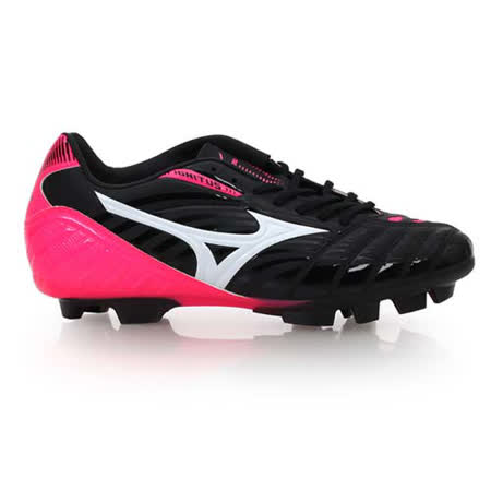 (男女) MIZUNO IGNITUS 3 MD足球鞋-WIDE- 運動 戶外 足球 黑粉紅