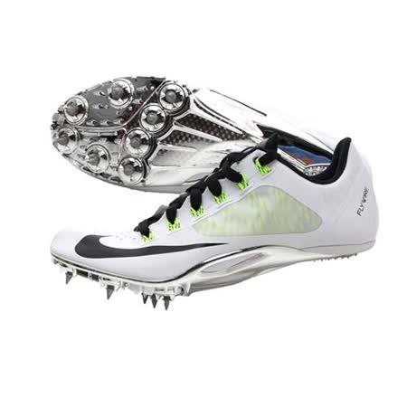 (男女) NIKE ZOOM SUPERFLY R4 田徑釘鞋-短距離 跨欄 附鞋帶 白黑螢光綠