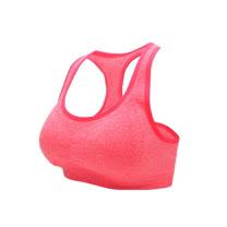 (女) INSTAR 寬肩帶運動內衣-運動BAR 背心 韻律 有氧 瑜珈 螢光橘