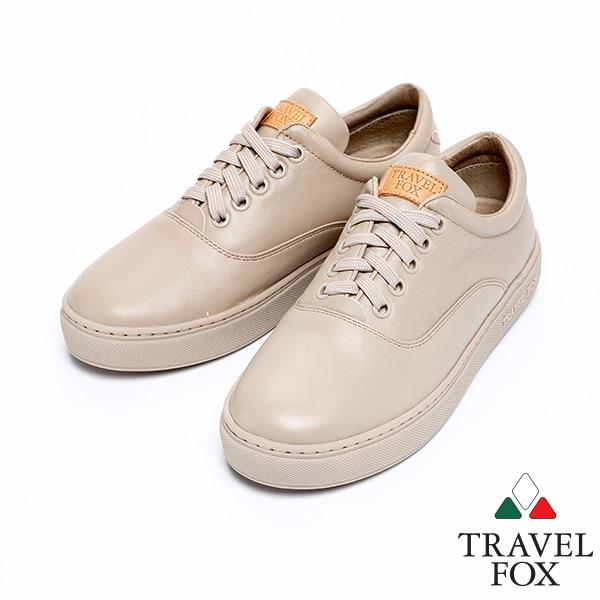 ^(女^)Travel Fox 健步柔軟皮革舒適鞋915811^(菸草~306^)