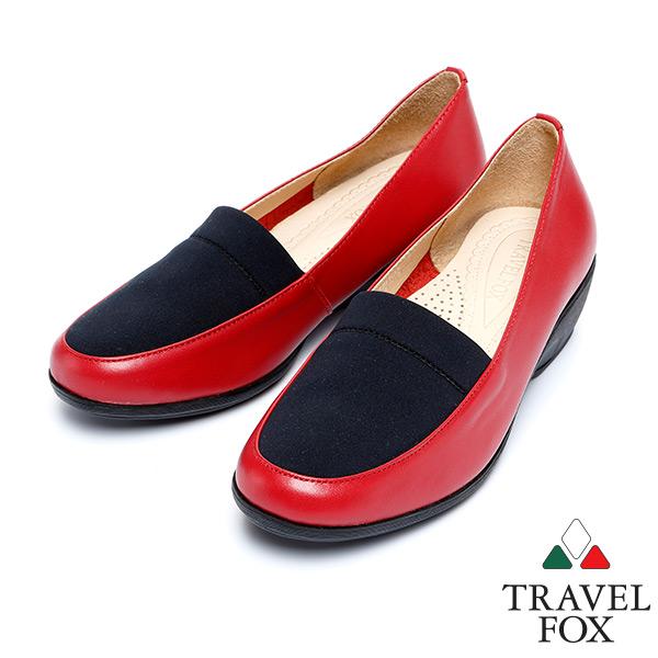 """^(女^)Travel Fox 1.5""""史翠普柔軟皮革低跟鞋915841^(紅~304^)"""