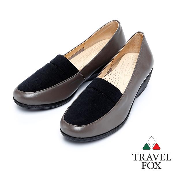 """^(女^)Travel Fox 1.5""""史翠普柔軟皮革低跟鞋915841^(灰~313^)"""