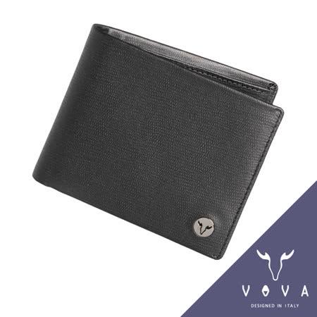 VOVA 自由系列5卡透明窗蜥蜴紋短夾(黑色)VA106W001BK
