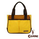 CORRE - 經典帆布款MIT側肩托特包-黃色