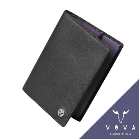 VOVA 自由系列3卡蜥蜴紋護照夾(黑色)VA106W018BK