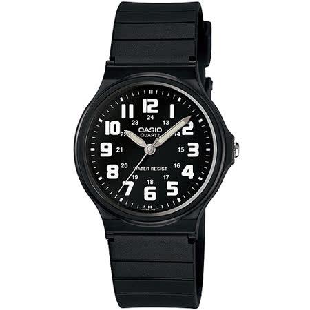 CASIO 時尚玩色輕薄魅力腕錶(MQ-71-1B)-黑x白