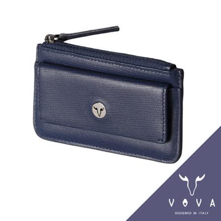 VOVA 自由系列蜥蜴紋拉鍊零錢包(藍色)VA106W028BL