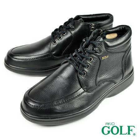 【GOLF】手工氣墊半筒紳士鞋 黑色(GF3061-BL)