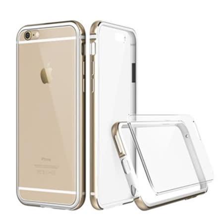 透明殼專家 iPhone6 Plus/6s Plus(5.5吋) 新一代 金屬邊框+抗刮背版保護殼