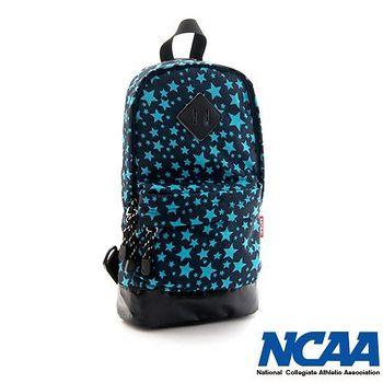 NCAA 妝點星空豬鼻系輕量尼龍單肩後背包 -湖藍色