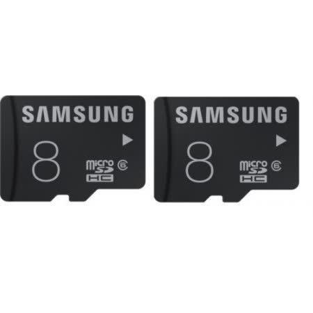 SAMSUNG microSDHC T-Flash 8GB Class6 記憶卡  兩入組