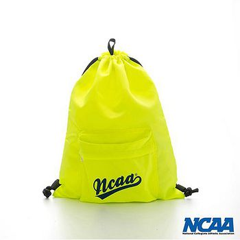 NCAA 字母束口拉繩後背包 -螢光黃