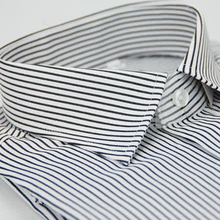 【金安德森】黑白條紋窄版長袖襯衫