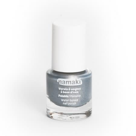 法國namaki 幼兒專用可撕式水性指甲油-酷炫銀