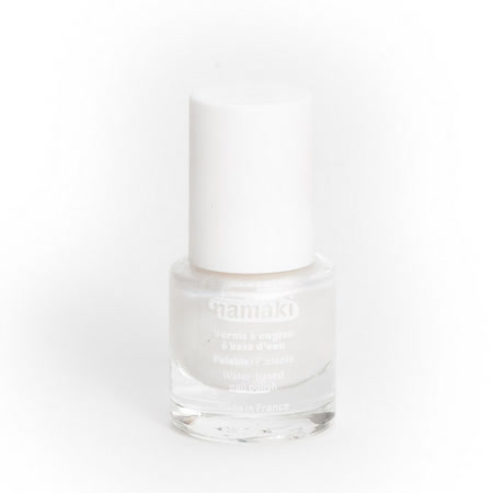 法國namaki 幼兒專用可撕式水性指甲油-珍珠白