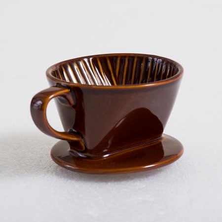 HERO 陶瓷咖啡濾杯 1-2人份 -可可棕