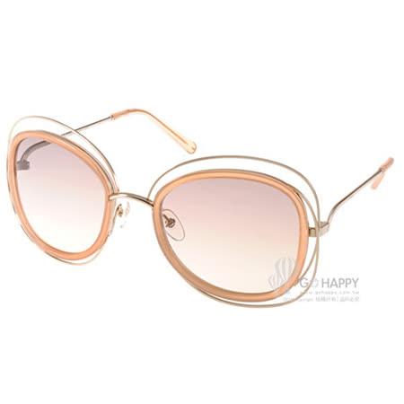 CHLOE太陽眼鏡 復古細緻金屬框(粉-金) #CL123S 724
