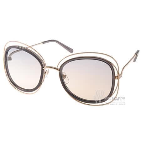 CHLOE太陽眼鏡 復古細緻金屬框(金-灰) #CL123S 731