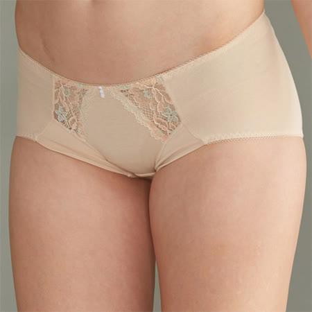 【華歌爾】華麗花卉M-LL低腰三角褲(粉妝膚)