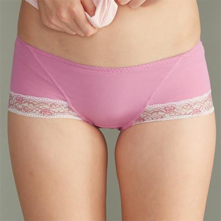【華歌爾】可愛花蔓M-LL中低腰平口褲(閃亮紫)