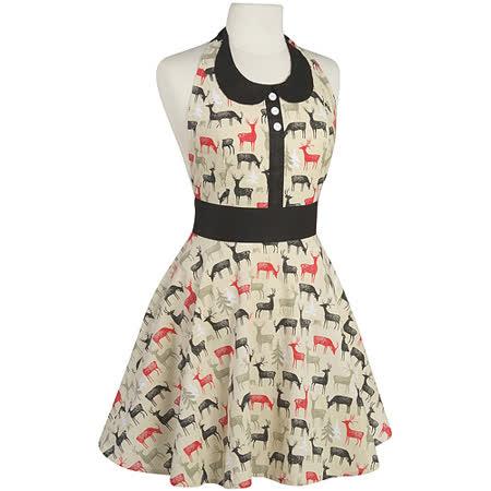 《NOW》洋裝式圍裙(馴鹿)