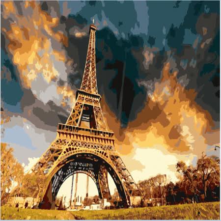 【ArtLife】創意油畫、數字油畫DIY_(巴黎鐵塔)