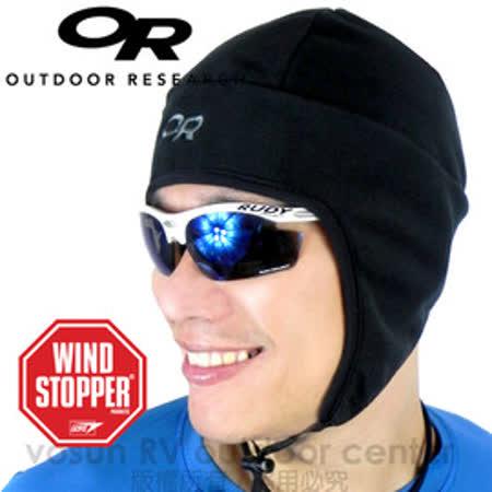 【美國 Outdoor Research】OR WindStopper Peruvian Hat 羽量級防風透氣護耳帽(防潑水).排汗帽.保暖帽.登山.自行車.重機.滑雪 (黑) 83155