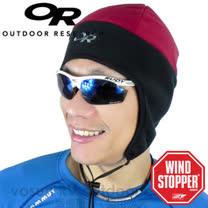 美國 Outdoor Research OR WindStopper Peruvian Hat 羽量級防風透氣護耳帽(防潑水).排汗帽.保暖帽.登山.自行車.重機.滑雪 (紅) 83155