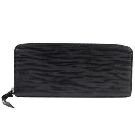 Louis Vuitton LV M60915 Clemence EPI 水波紋皮革拉鍊長夾.黑_現貨