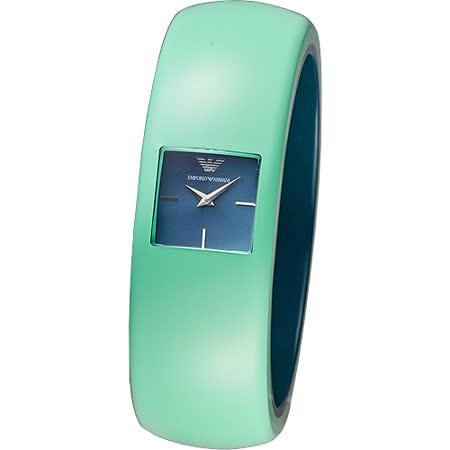 ARMANI 華麗挑戰時尚風格女錶(AR7367)-綠