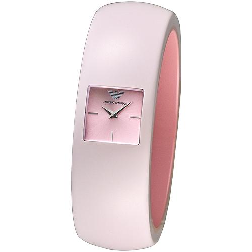ARMANI 華麗挑戰時尚風格女錶(AR7368)-粉紅