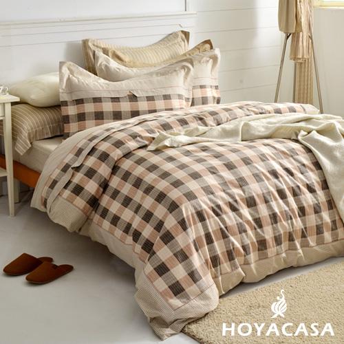~HOYACASA 完美空間~加大四件式純棉兩用被床包組^(天絲入棉30^%^)