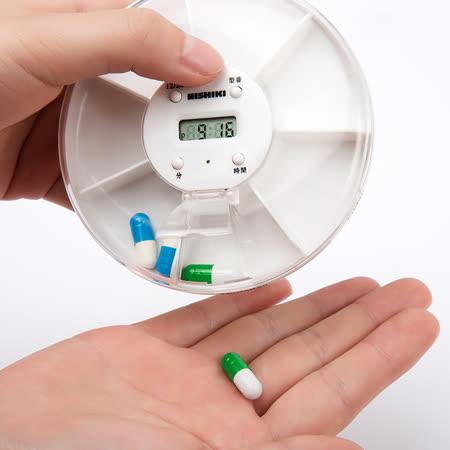 【銀髮族小幫手】一週電子計時藥盒 電子藥盒 智慧藥盒計時器 提醒藥盒方便旋轉