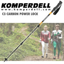 【KOMPERDELL奧地利】C3 Carbon Power Lock 碳纖維強力鎖定 泡棉短握把登山杖(單支銷售)/Power Lock_1752311-29