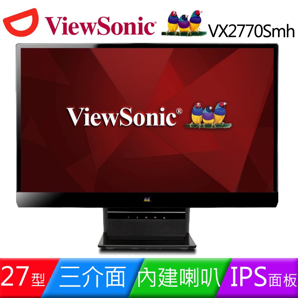 ViewSonic 優派 VX2770Smh~LED 27吋IPS無邊框液晶螢幕