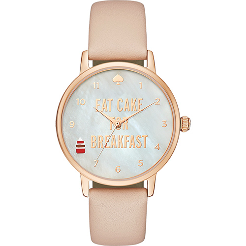 Kate Spade Metro 甜點時光 腕錶~珍珠貝x玫瑰金框34mm 1YRU089