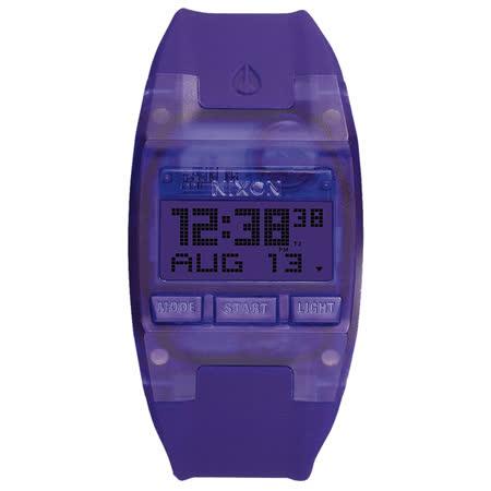 NIXON COMP S 浪花海潮休閒運動電子錶-紫x小