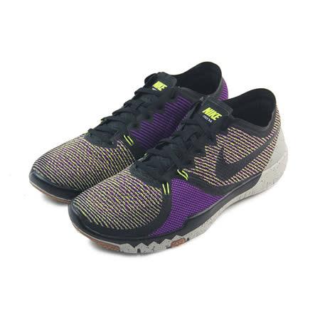 (男)NIKE FREE TRAINER 3.0 訓練鞋 黑/紫/螢光黃-749361075