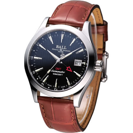 BALL GMT 瑞士天文臺認證雙時區機械腕錶 GM2O26C-LCJ-BK