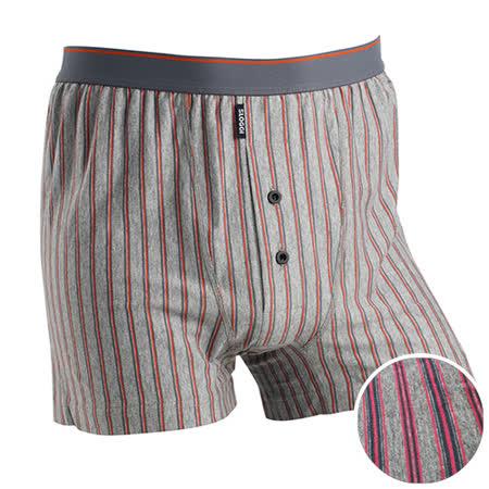 【sloggi men】寬鬆針織系列條紋平口褲 M-XL(灰粉條紋)-品特匯