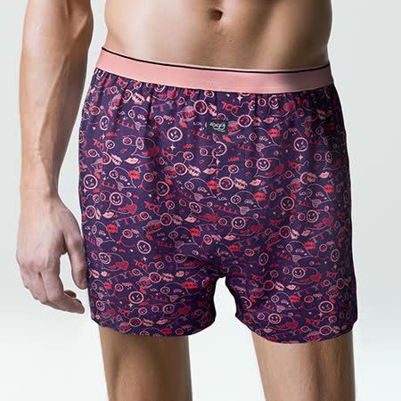 【sloggi men】寬鬆平織系列平口褲 M-XL(藍紫)-品特匯