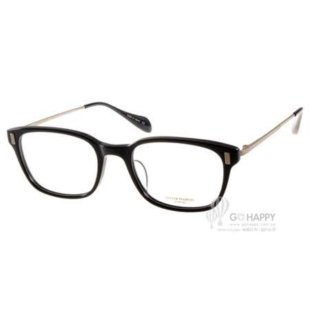 OLIVER PEOPLES眼鏡 英倫風百搭款(黑-金) #MAXTON 1005