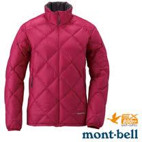【日本 MONT-BELL 】女款 LIGHT ALPINE 羽絨外套/輕量防風夾克.超潑水禦寒大衣_櫻桃紅 1101429