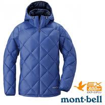 【日本 MONT-BELL 】女款 LIGHT ALPINE PK 羽絨連帽外套/輕量防風夾克.超潑水禦寒大衣_群青藍 1101431