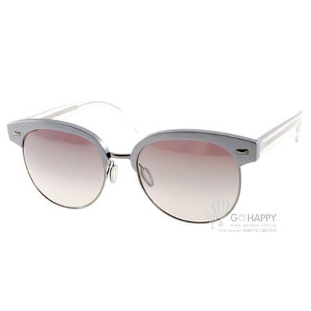OLIVER PEOPLES太陽眼鏡 時尚眉框款(銀藍) #SHAELIE 52256L